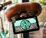 Thin chevron with cheetah print - Monogrammed identification tag - Gift for tween