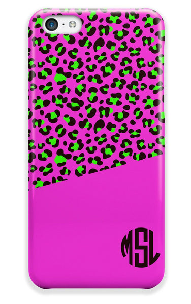 CHEETAH ANIMAL PRINT - CUTE TWEEN PERSONALIZED IPHONE CASE