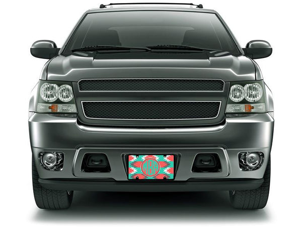 AZTEC PATTERN - MONOGRAMMED LICENSE PLATE