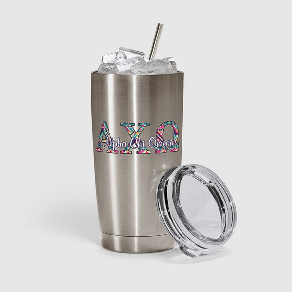 Alpha Chi Omega tumbler decal