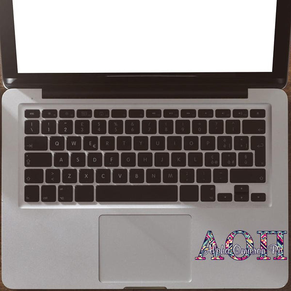 Alpha Omicron Pi car decal - Aztec letters - AOPi sorority sticker