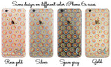 Clear iPhone case - Watercolor circles - Monogrammed gift for women