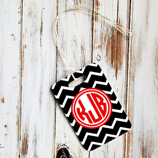 Black and white chevron with red - Monogrammed seat belt shoulder pad - Gifts for daughter