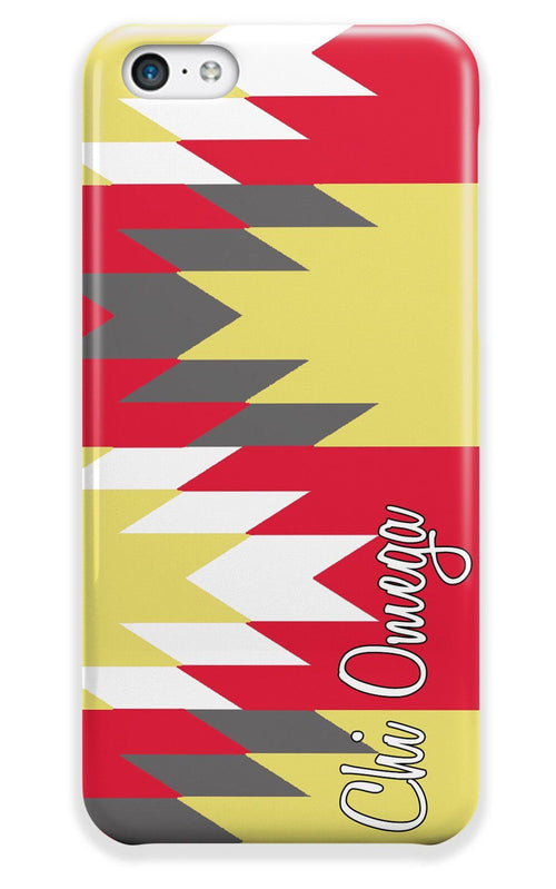 Chi Omega - Aztec print in red with yellow - ChiO sorority Iphone case