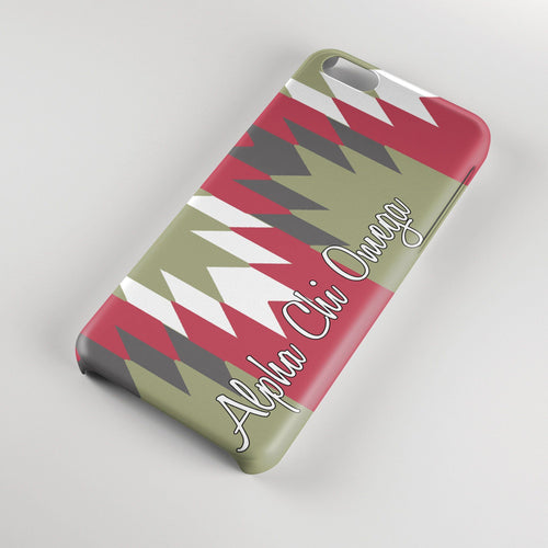 A ChiO Plastic Iphone case green and red