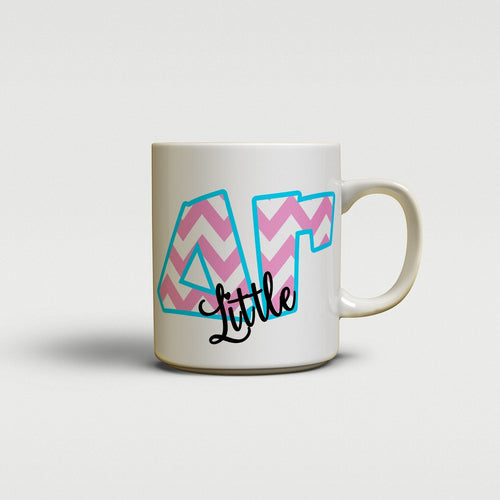 DELTA GAMMA - CUTE CHEVRON LETTERS - DG SORORITY BIG AND LITTLE MUG