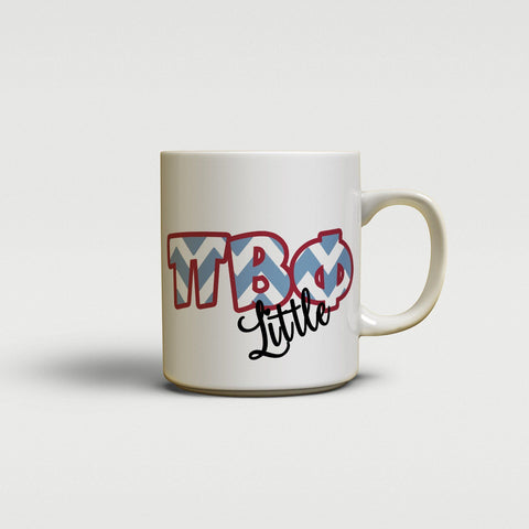 PI BETA PHI - CUTE CHEVRON LETTERS - PiPhi SORORITY BIG AND LITTLE MUG