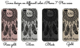 Pi Beta Phi - Clear iPhone case with black dreamcatcher design