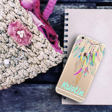 Customizable floral clear iPhone case - Asian style coral flowers - Gift for wives