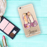 Fashion diva iPhone clear case, Monogrammed gifts