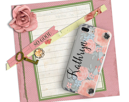 Fall fashion iPhone case - Clear cover with design - Gift for women