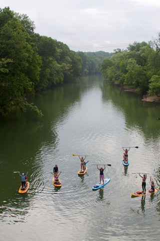 Rock Creek SUP Yoga Class Sponsored by Carve Designs