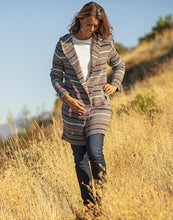 Load image into Gallery viewer, Durango Sweater: Grey Heather Stripe