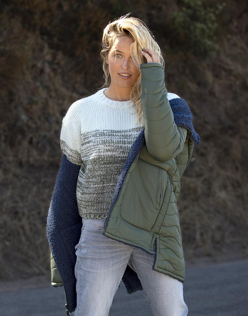 Estes Ombre Sweater: Hunter Fade