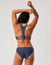 Load image into Gallery viewer, St. Barth Reversible Bottom : Navy Haku/Navy Bayside