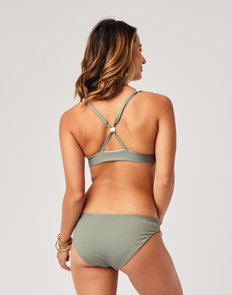 St. Barth Reversible Bottom : Paradise/Moss