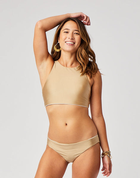 St. Barth Reversible Bottom : Gold Shimmer/Cloud
