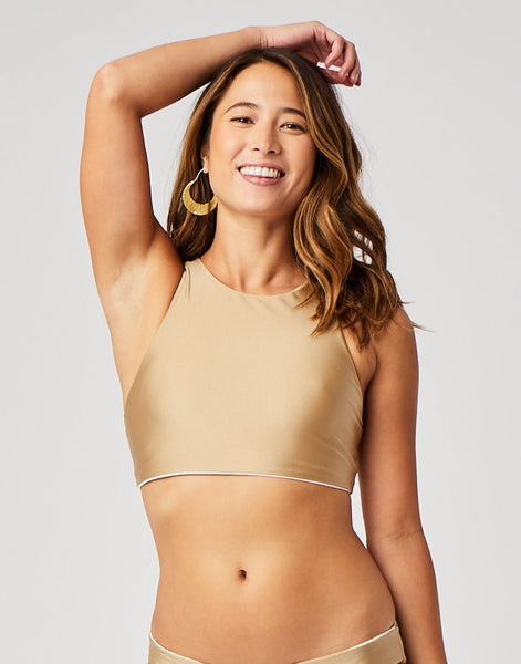 Sanitas Reversible Top : Gold Shimmer/Cloud