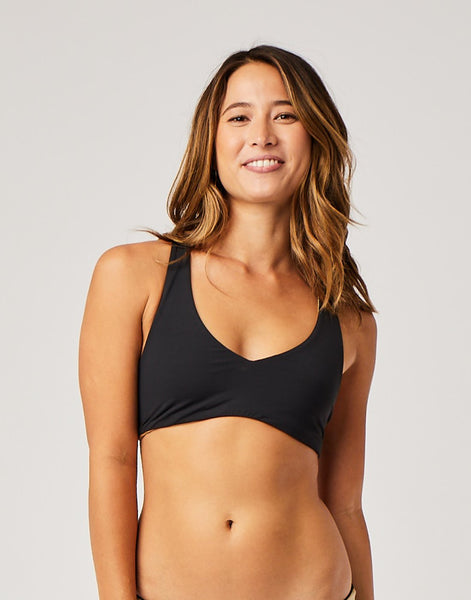 La Jolla Reversible Top : Black/Gold Shimmer