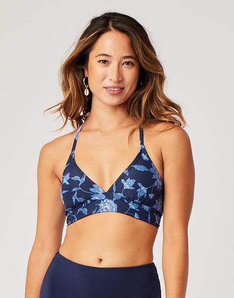 Dahlia Top: Navy Haku