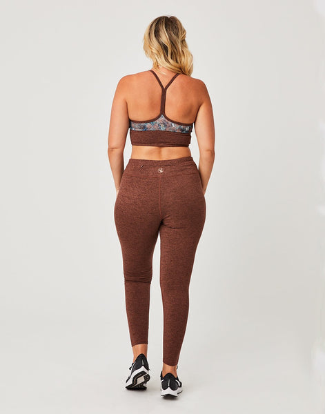 Canyon Legging: Brunette Heather