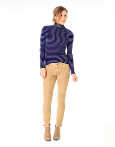 Cordero Turtleneck: Anchor Marin Stripe