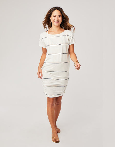Fiona Cover Up : Cloud Vintage Stripe