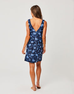 Cayman Dress: Navy Haku