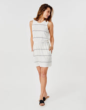 Load image into Gallery viewer, Camila Dress: Cloud Vintage Stripe