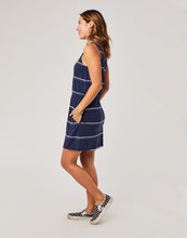 Load image into Gallery viewer, Camila Dress: Navy Vintage Stripe