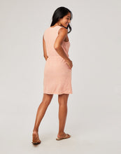 Load image into Gallery viewer, Kendall Dress : Guava Textured Stripe