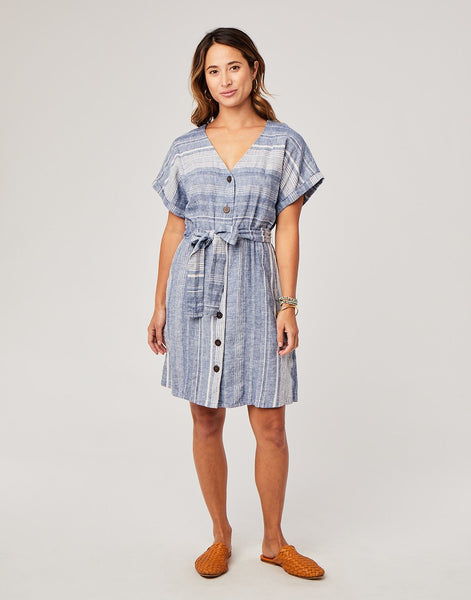 Willow Dress : Coastal Stripe