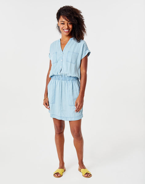 Hadley Dress : Light Chambray