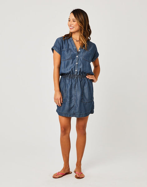 Hadley Dress : Dark Chambray