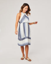 Load image into Gallery viewer, Mabel Dress : Navy Sunrise Stripe