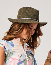 Load image into Gallery viewer, Capistrano Crushable Hat : Olive w. Ribbon