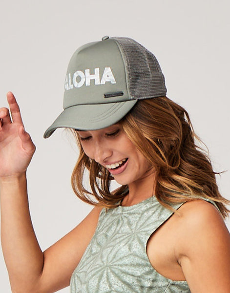 Beach Trucker Hat: Moss