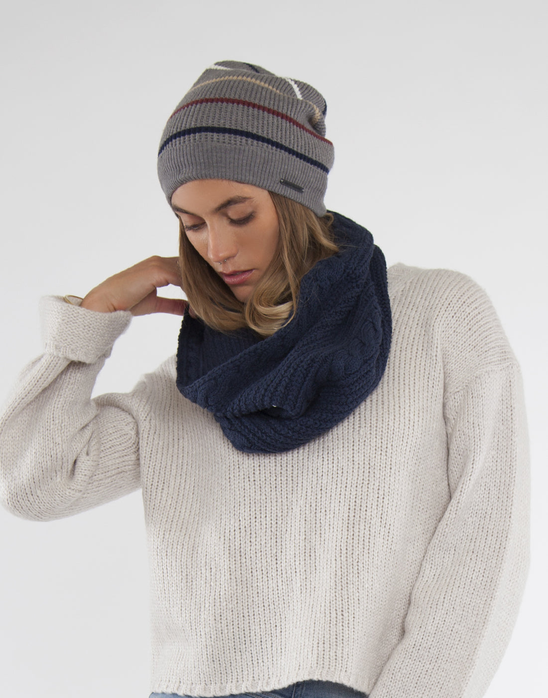 Whitmore Infinity Scarf : Navy