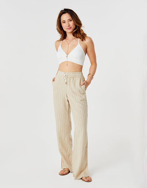 Bonfire Pant: Straw Stripe