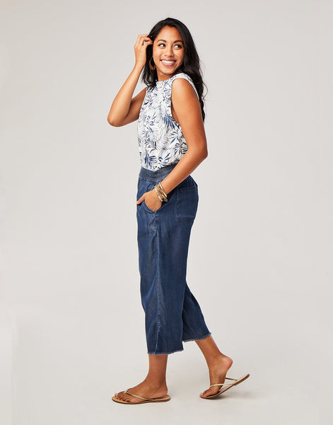 Riley Pant : Dark Chambray