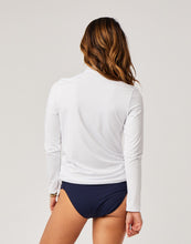 Load image into Gallery viewer, Cruz Rashguard: White w. Navy Pull