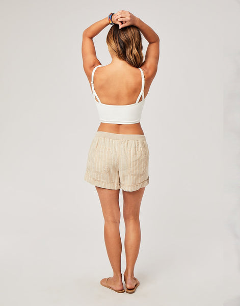 Lanikai Short : Straw Stripe