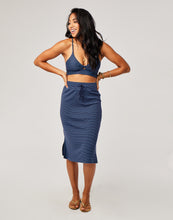 Load image into Gallery viewer, Addie Skirt: Navy Bayside
