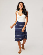 Load image into Gallery viewer, Ivy Skirt : Navy Vintage Stripe