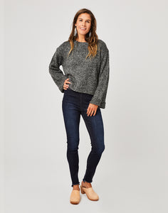Estes Crop Sweater: Black