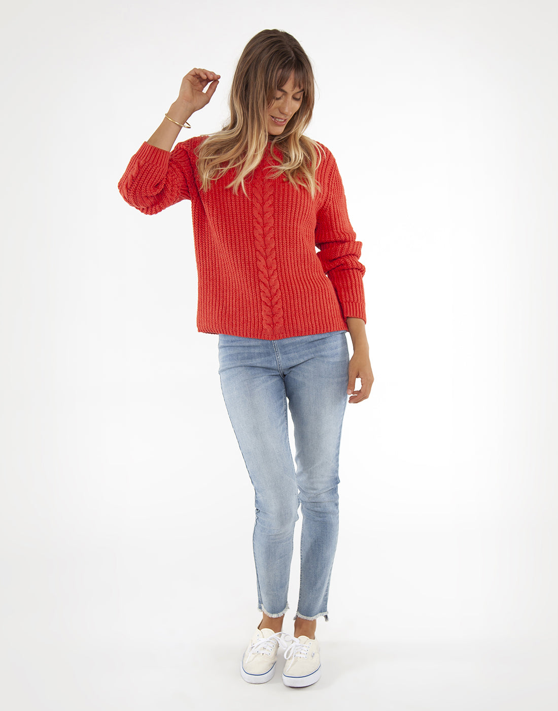 Walsh Sweater: Marled Rosella