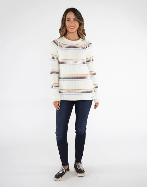 Cabana Sweater : Foam Rainbow Stripe