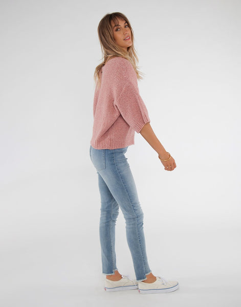 Veronica Sweater : Rose