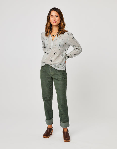 Dylan Gauze Shirt: Quarry Belle