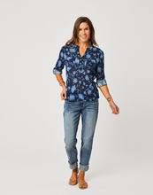 Load image into Gallery viewer, Dylan Gauze Shirt : Navy Haku